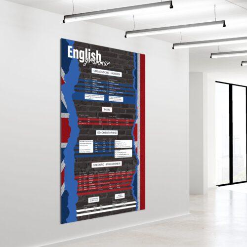 Akustikbillede engelsk grammatik 200x120cm