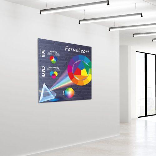 Akustikbillede farveteori 120x120cm