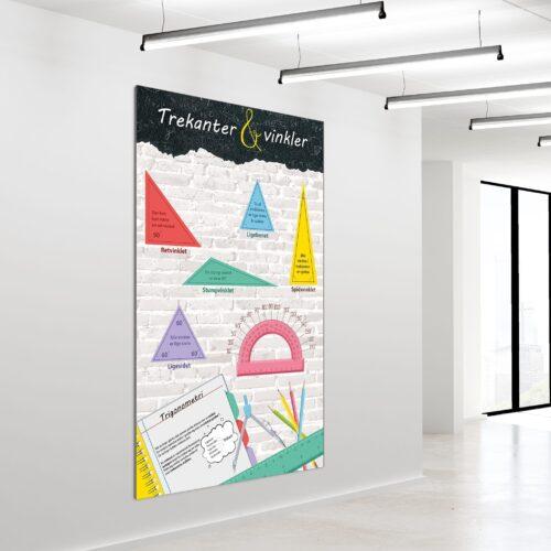 Akustikbillede trekanter og vinkler 200x120cm