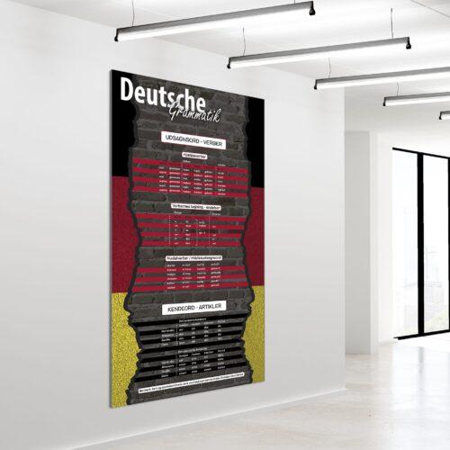 Akustikbillede tysk grammatik 200x120cm