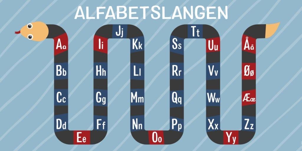 Dansk Alfabetslangen Skilteplade 1000x2000