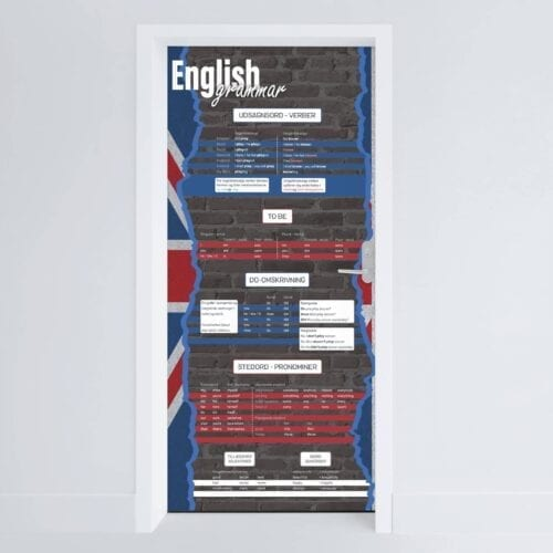 Doerfolie Engelsk grammatik 215x100cm
