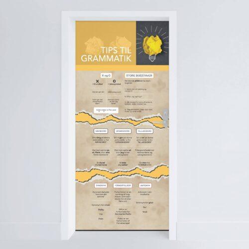 Doerfolie Tips til grammatik 215x100cm