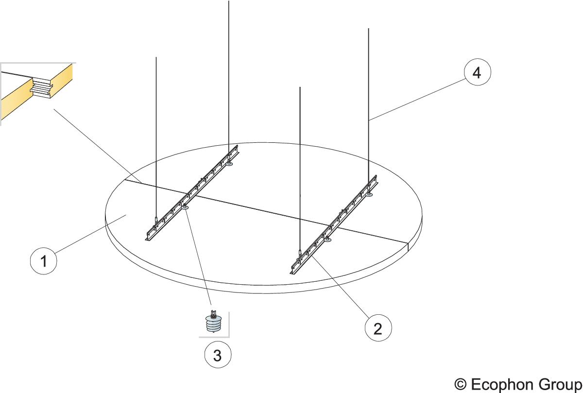 Komplet beslag, justerbar wirekit (M290)