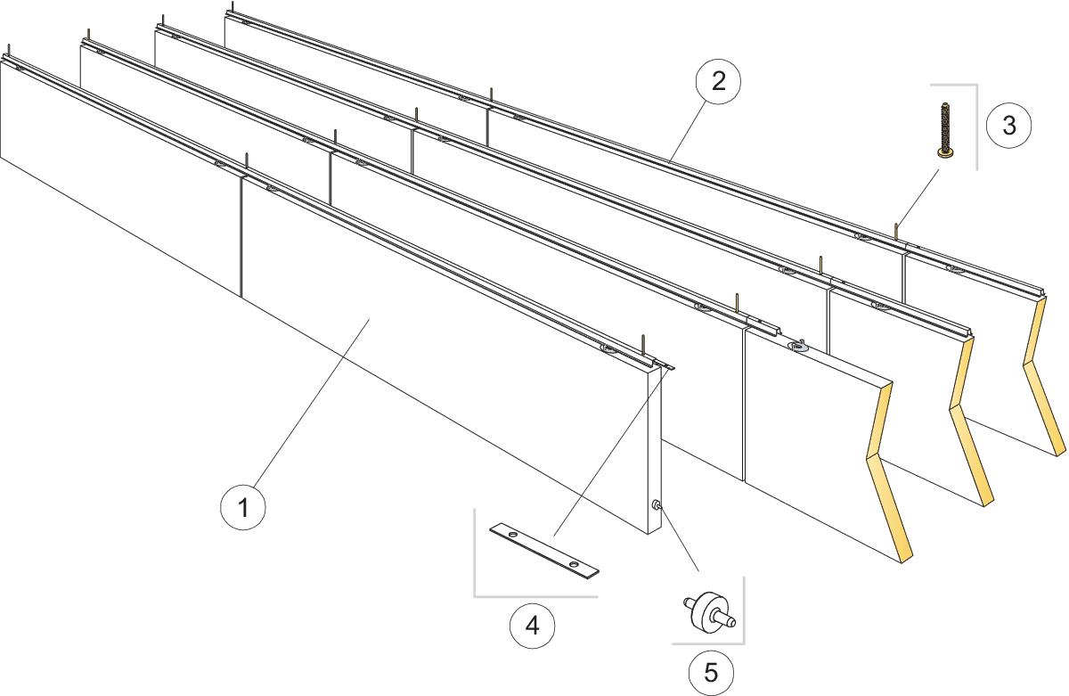 Komplet beslag, direkte montering (M414)