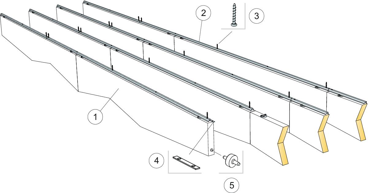 Komplet beslag, direkte montering (M417)