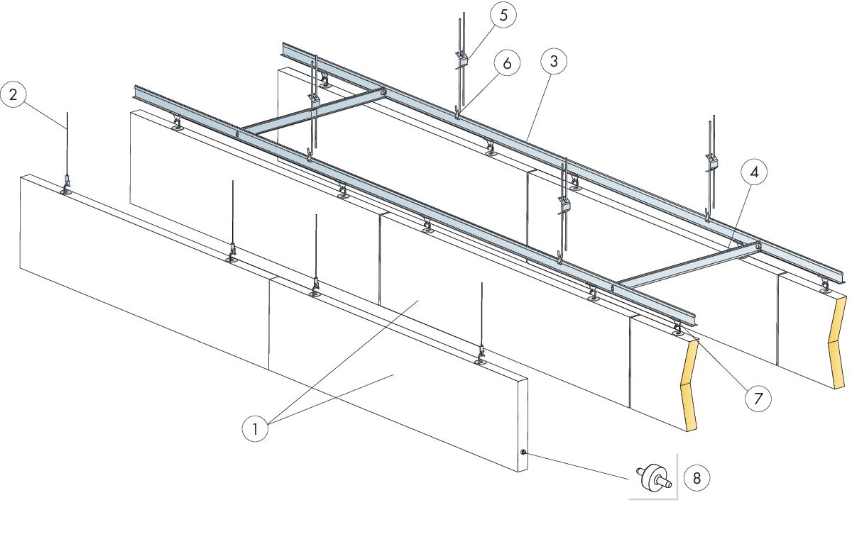 Komplet beslag, justerbar wirekit (M491)