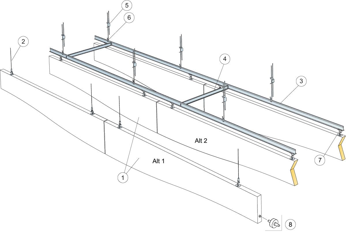 Komplet beslag, justerbar wirekit (M495)