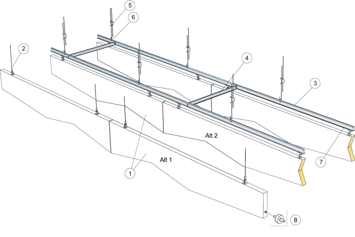 Komplet beslag, justerbar wirekit (M496)