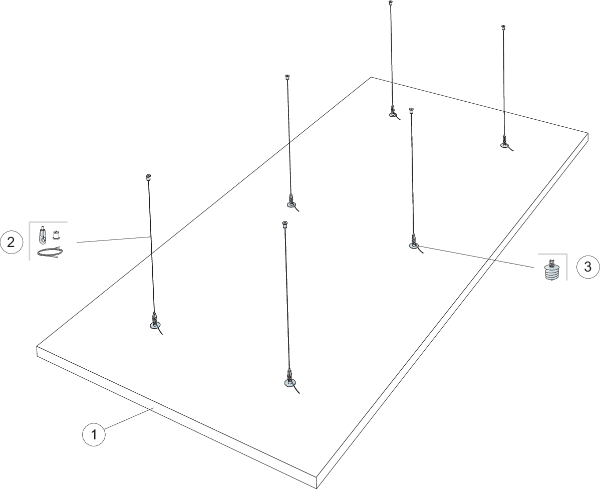 Komplet beslag, direkte montering (M506)