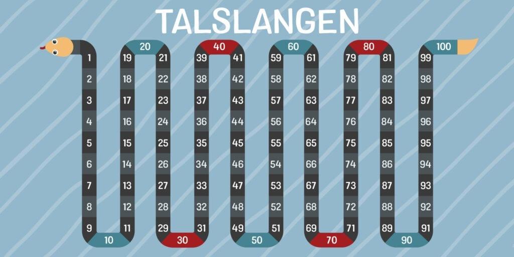 Matematik Talslangen Skilteplade 1000x2000