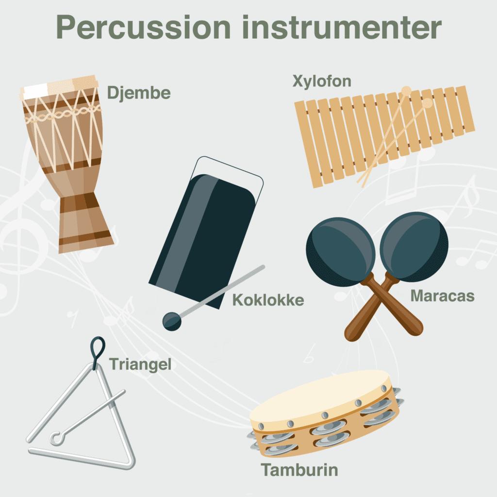 Musik Percussioninstrumenter Skilteplade 1000x1000