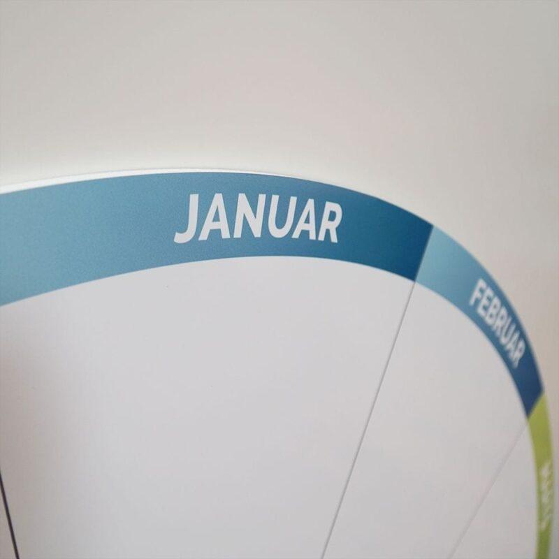 Rund whiteboardtavle med årshjul-21343