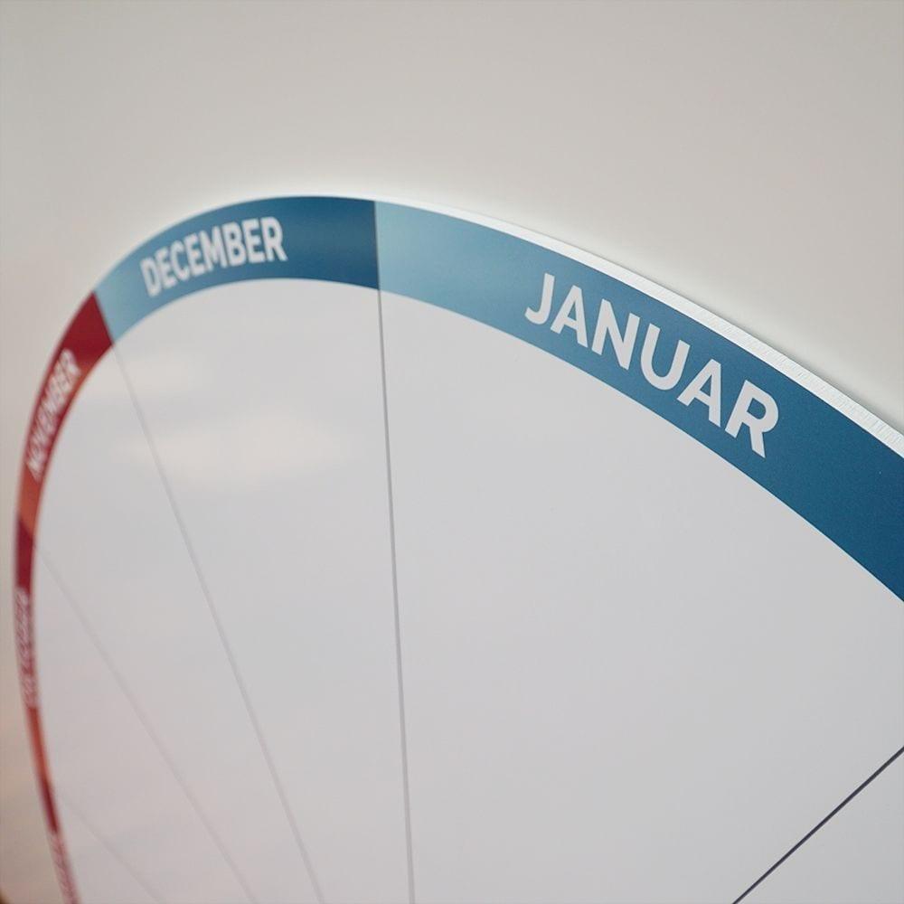 Rund whiteboardtavle med årshjul-21345