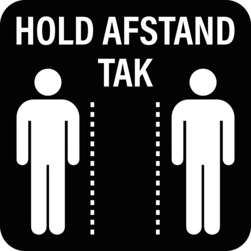 Hold afstand, tak - Skilteplade-0