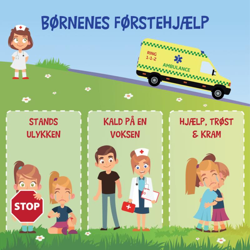 Børnenes førstehjælp - Skilteplade-0