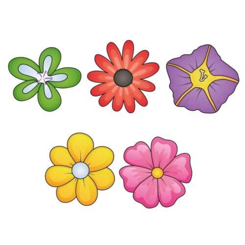 Blomster, 5 stk. - Skilteplade-0