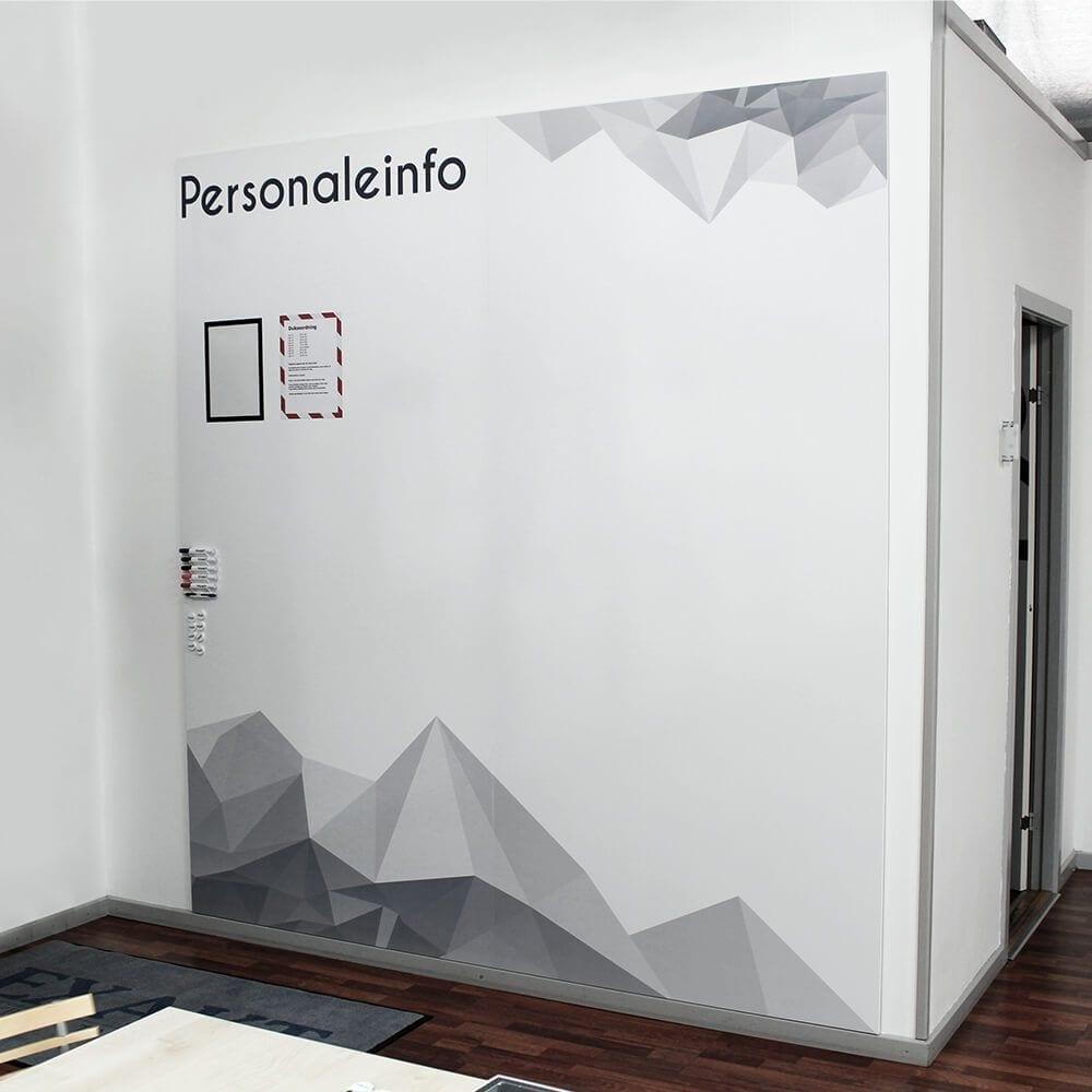 Chameleon whiteboard med print - Rammeløst whiteboard med dit eget print-0