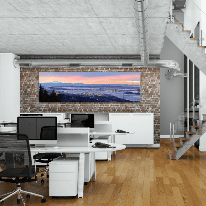 Vægramme med akustik inkl. banner med eget design-0