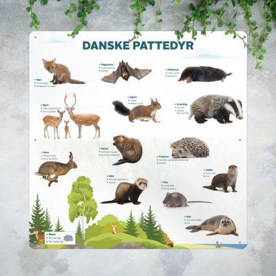 Danske pattedyr Mockup