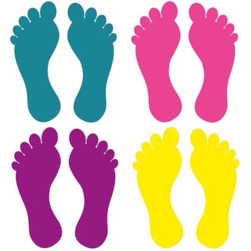 Fødder i 4 farver - Gulvfolie, pakke med 16 stk.-0