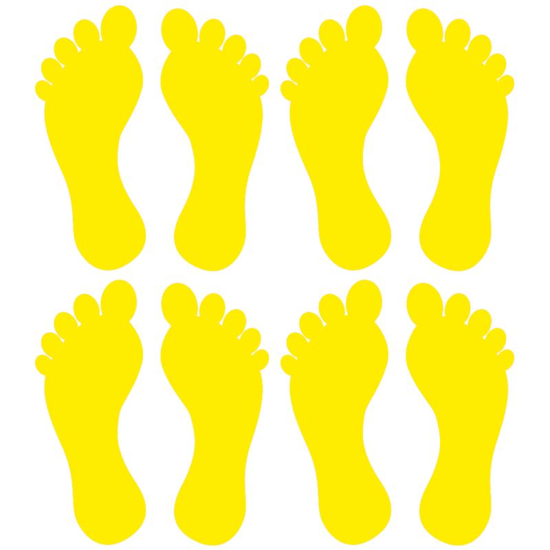 Fødder i 4 farver - Gulvfolie, pakke med 16 stk.-28100