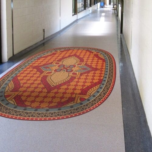 Fotostat og aktivitet på gulv