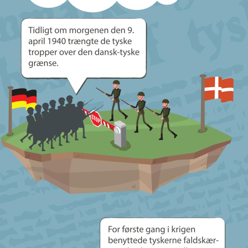 Danmarks Besættelse (9. april) - Skilteplade-28509