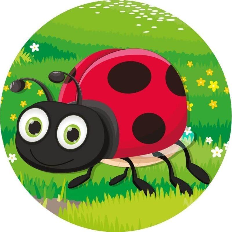Runde insekter, 5 stk. - Skilteplade-25116