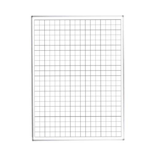 Whiteboardtavle med 5x5 cm tern-0