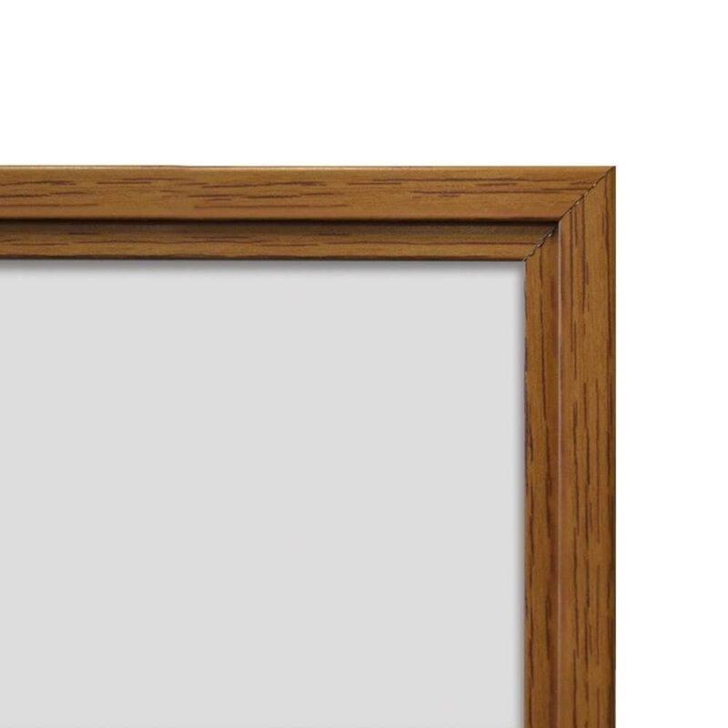 Whiteboard med ramme i trælook - Eg-19894
