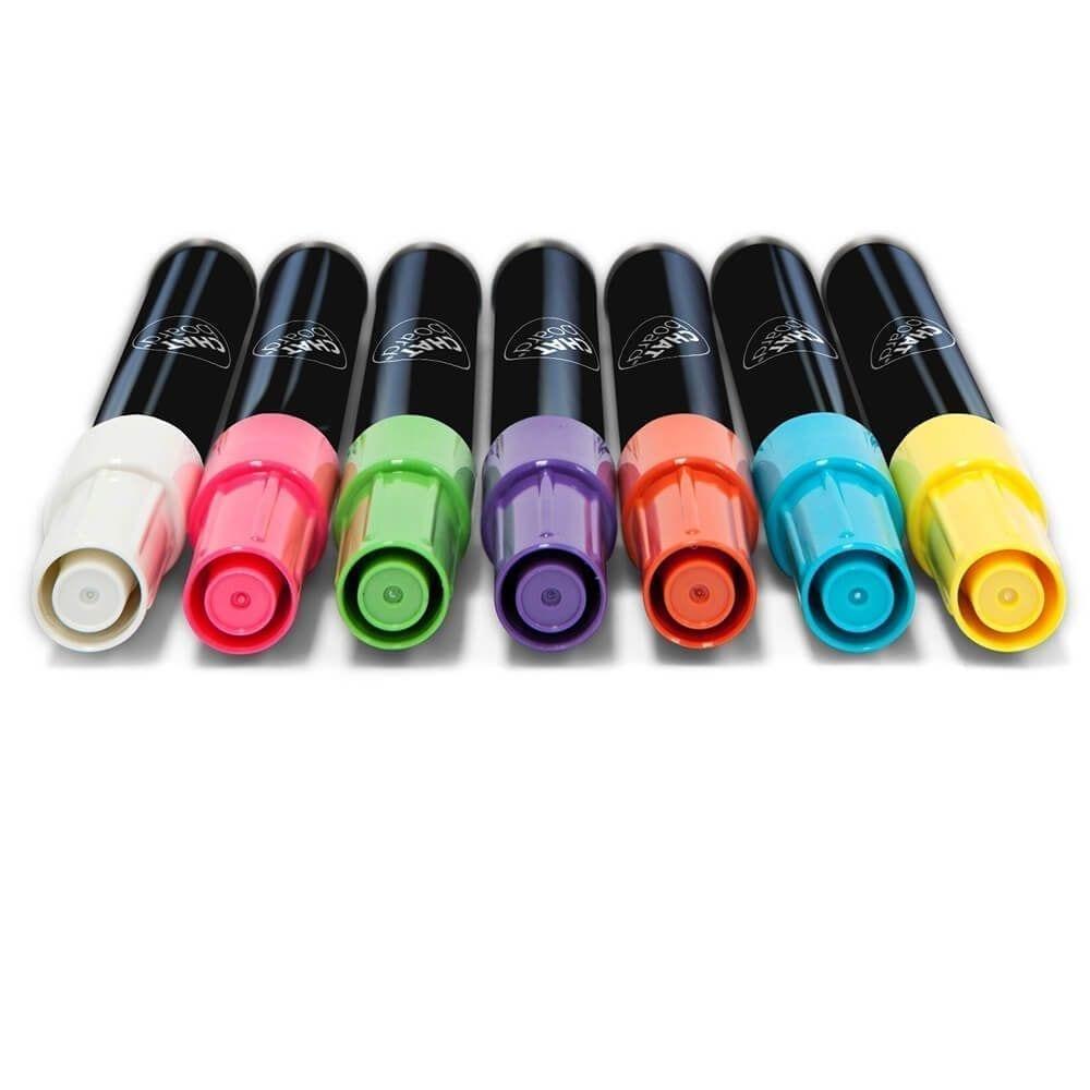 Neonfarvede penne til glastavle - Pakke med 4 forskellige farver-0
