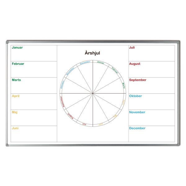 Whiteboard med årshjul og måneder-0