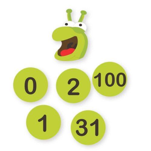 Talorm med tallene 0-100 - Gulvfolie-0