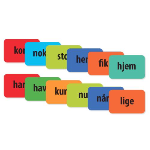 De 120 mest anvendte danske ord - Pakke med 120 stk.-0