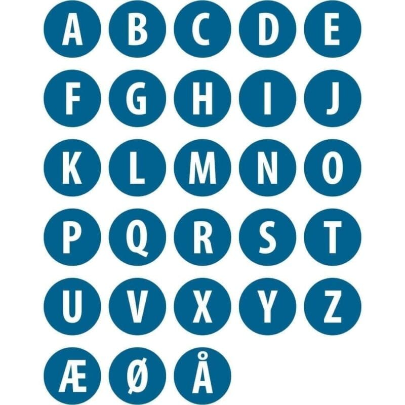 Alfabet, Ø15 cm-0