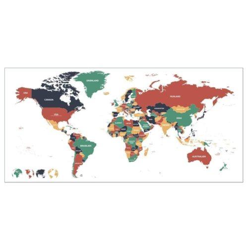 Verdenskort med lande-0