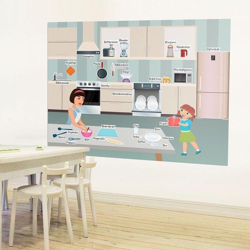Køkkenredskaber - Skilteplade - 70 x 90 cm-26039