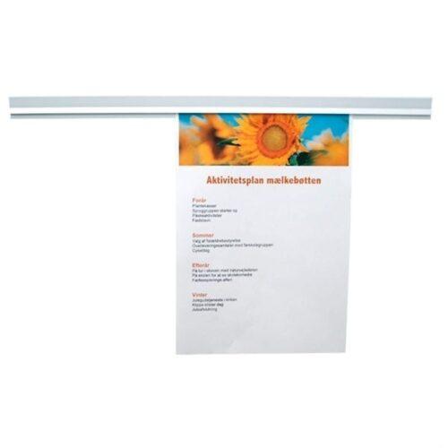 Magnetisk papirskinne - Hvid-0