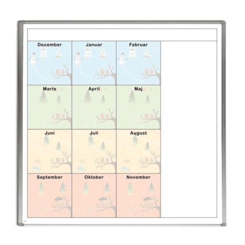 Whiteboard med firkantet årshjul-0