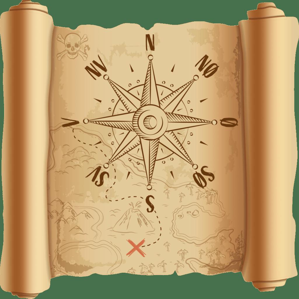 kompas kort 1000x1000 g