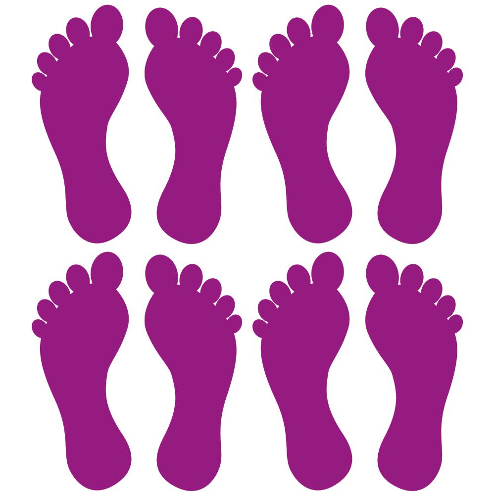 Fødder i 4 farver - Gulvfolie, pakke med 16 stk.-28101