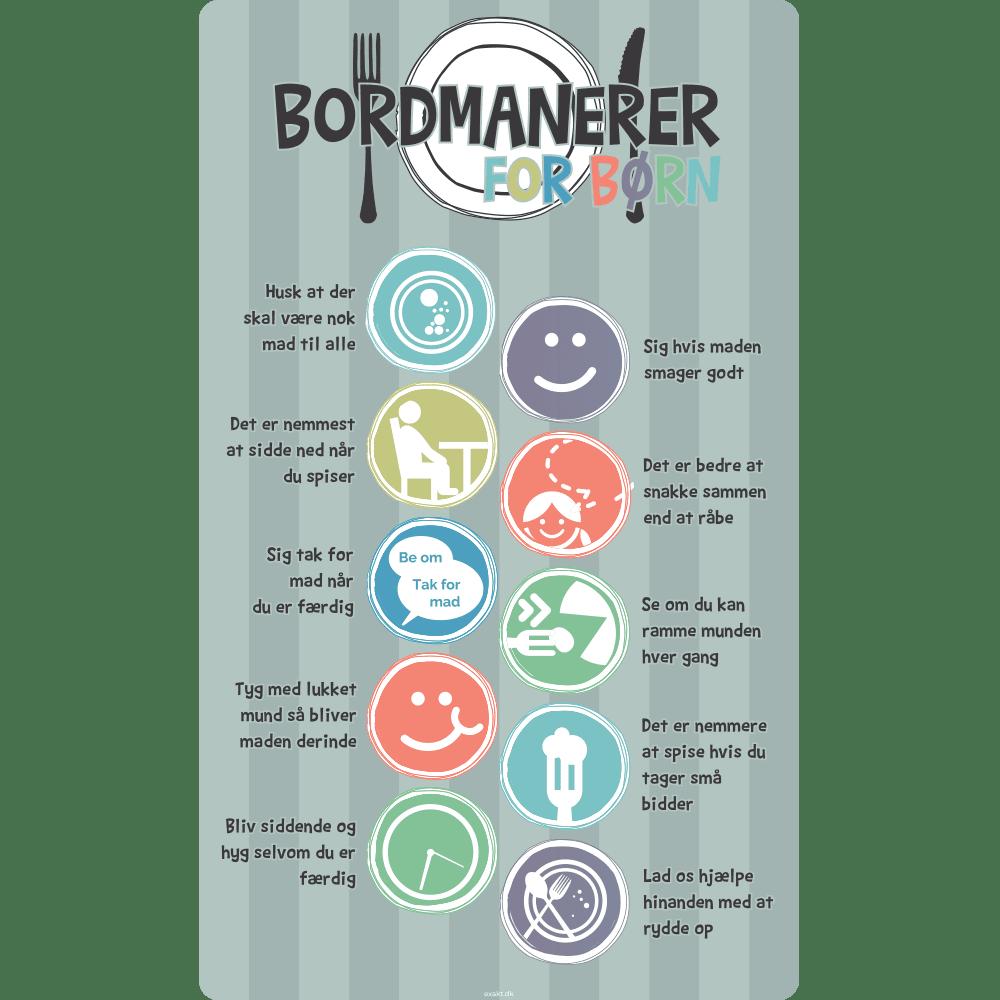 Bordmanerer - Skilteplade - 50 x 30 cm-0