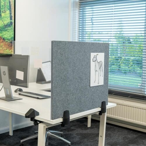 Bordskærm med whiteboard og opslagstavle-0