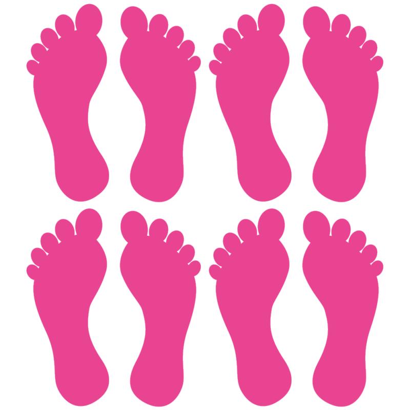Fødder i 4 farver - Gulvfolie, pakke med 16 stk.-28099