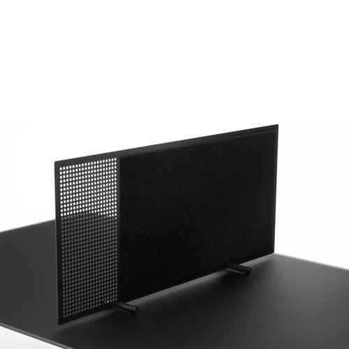 Flytbar borddeler med glastavle og filttavle-0