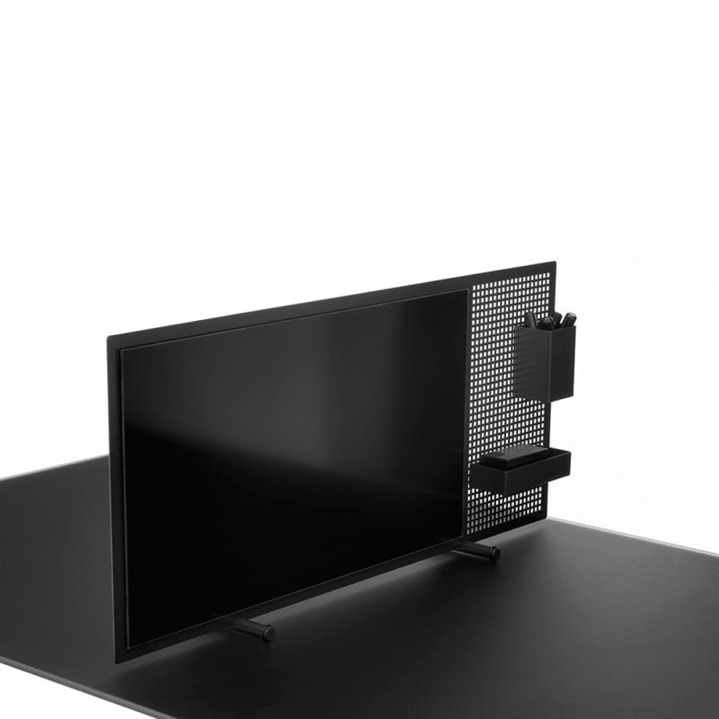Flytbar borddeler med glastavle-0