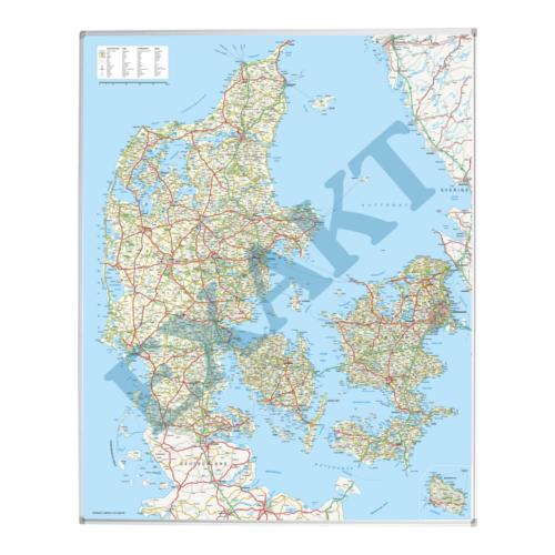 Whiteboard med Danmarkskort-0