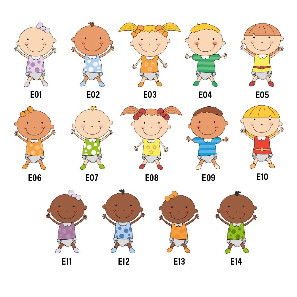 Små børn med ble - Skilteplade-0