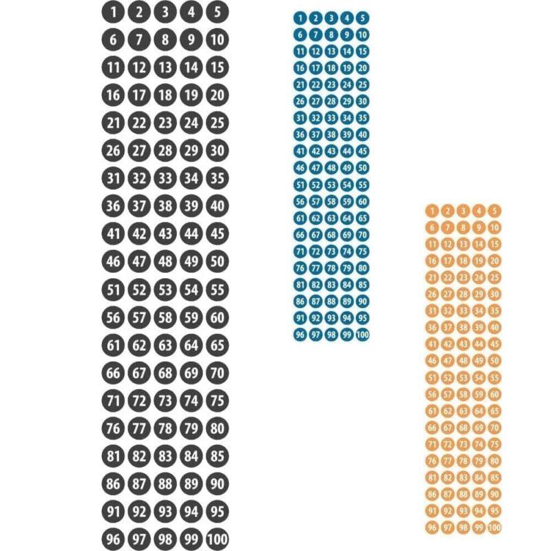 Tallene 1-100, Ø15 cm - Vægfolie-0